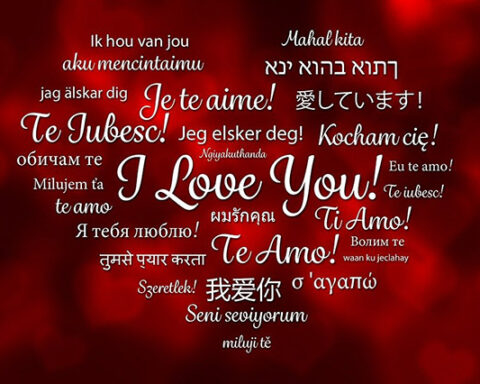Say I love you in 100 languages